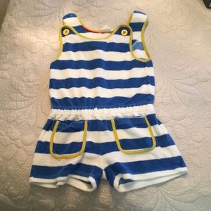 Mini Boden toweling romper cover up